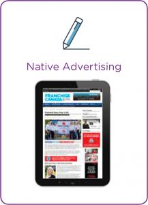 Franchise Canada Native Advertising Icon
