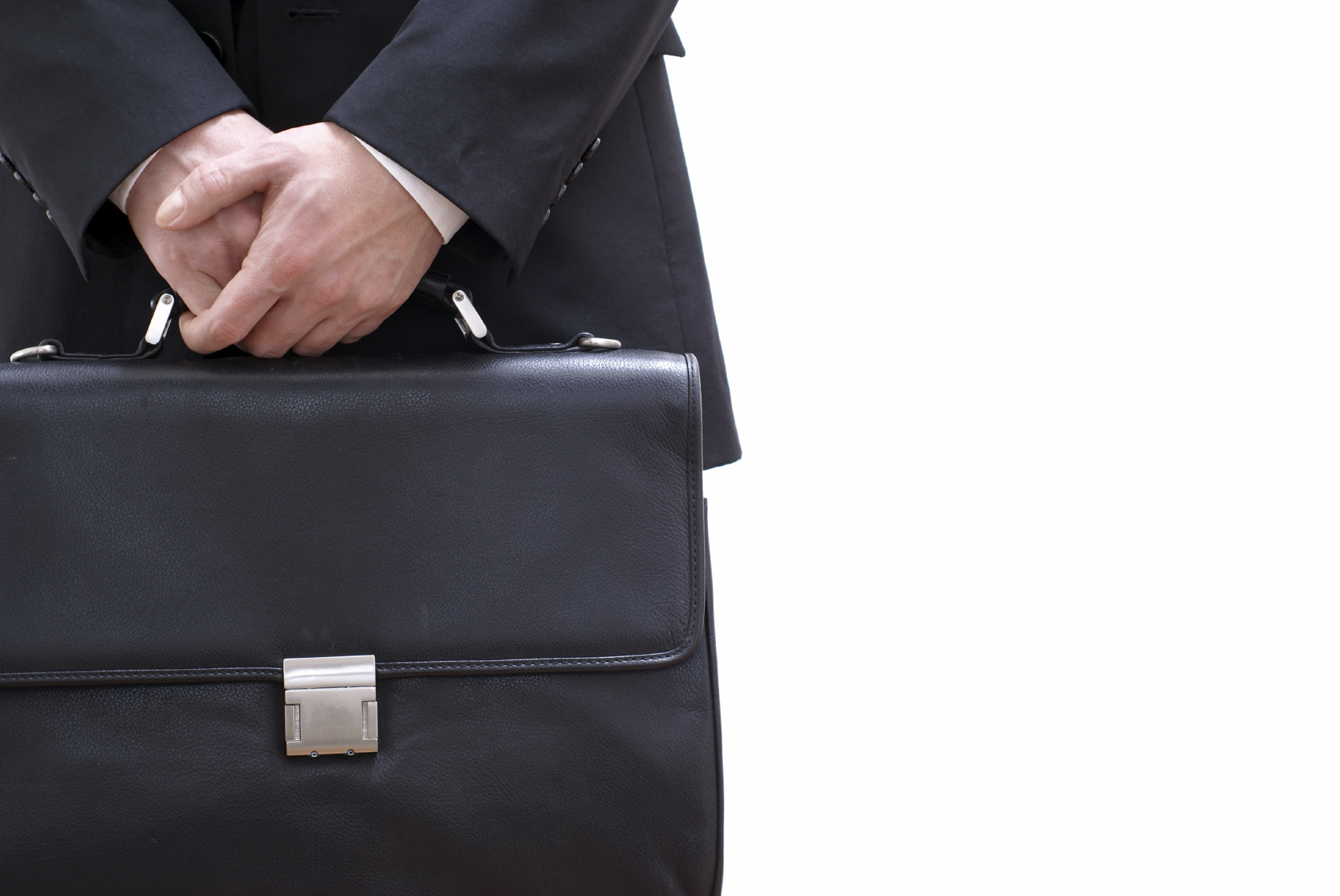 Photo of person holding briefcase