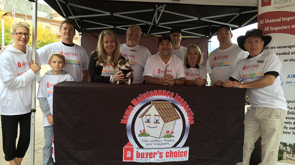 Members of the A Buyers Choice team at an Autism Speaks fundraiser