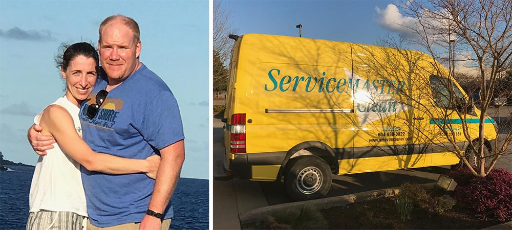 Photo of ServiceMaster Clean franchisee David Benoit and SMC van