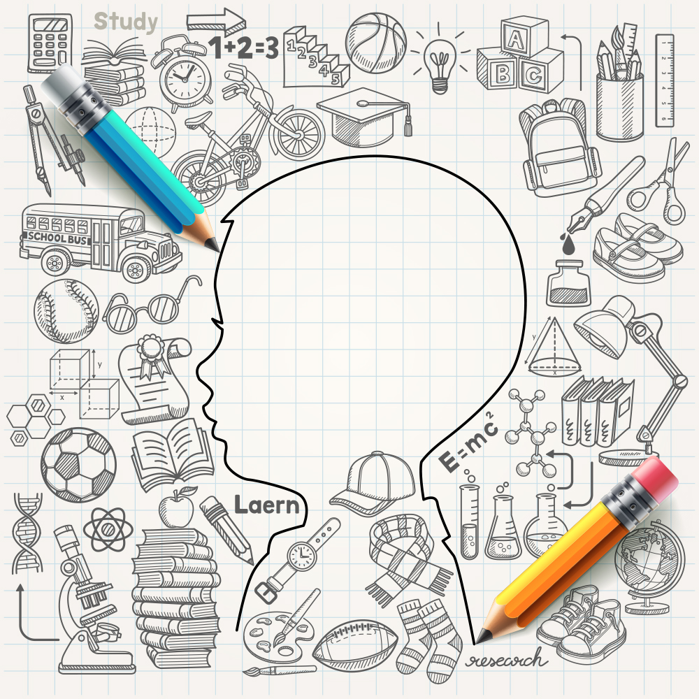 Education concept image with doodles