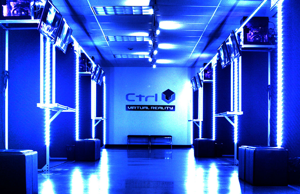 Photo of a Ctrl V virtual reality arcade
