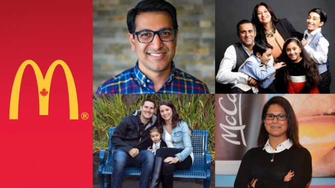 Collage image of four McDonald's Canada franchisees