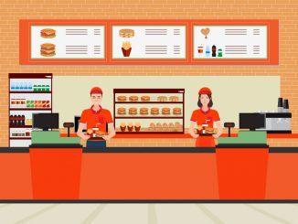 Illustration of inside of a quick service restaurant