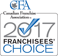 Canadian Franchise Association Franchisees' Choice Designation 2017 Recipient Logo