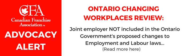 Ontario Changing Workplaces Review - Impact on Franchising