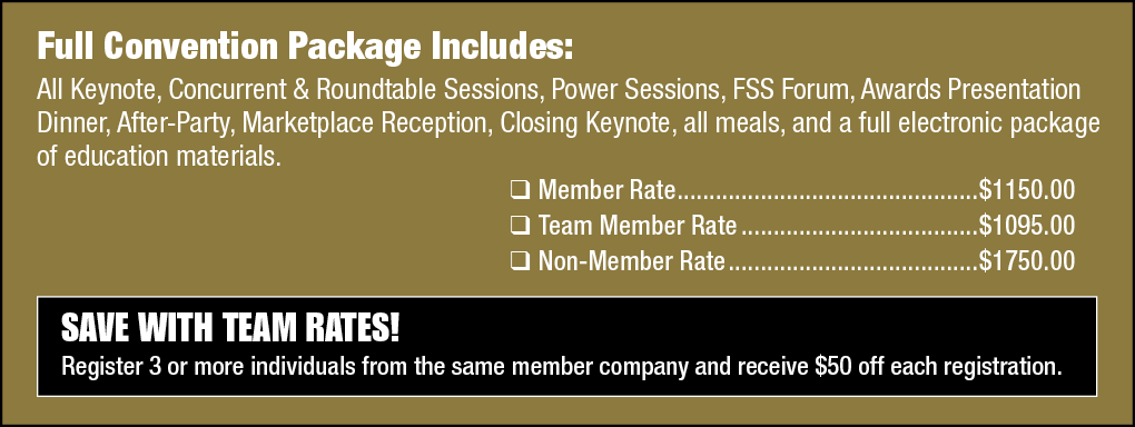 CFA National Convention Rates Image