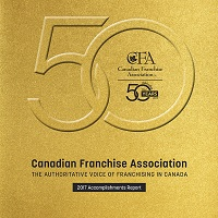 Canadian Franchise Association 2017 Accomplishments Report Cover