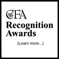 CFA Recognition Awards Learn More