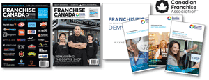 Collage of Franchise Canada Show Start Kit